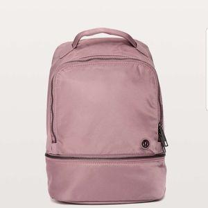 NWT lululemon city adventurer backpack Red Dust